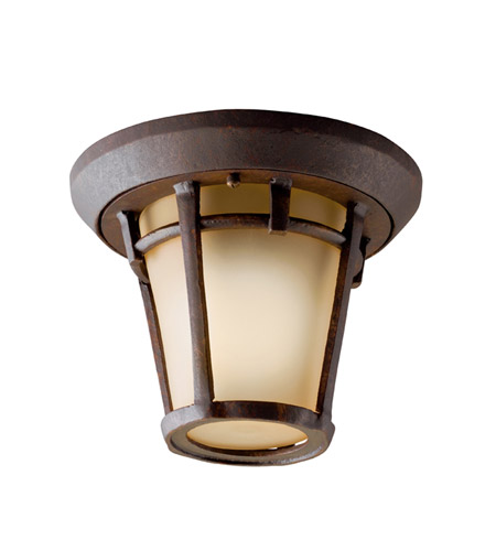 Kichler Lighting Melbern 1 Light Outdoor Flush Mount in Aged Bronze 9555AGZ photo