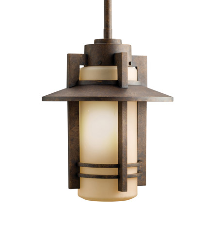 Kichler Lighting Creston 1 Light Outdoor Pendant in Aged Bronze 9556AGZ photo