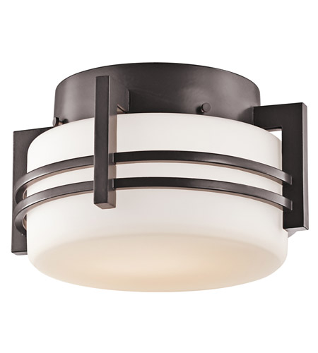 Kichler Lighting Pacific Edge 1 Light Outdoor Flush Mount in Architectural Bronze 9557AZ