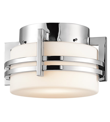 Kichler Lighting Pacific Edge 1 Light Outdoor Flush Mount in Polished Stainless Steel 9557PSS316 photo