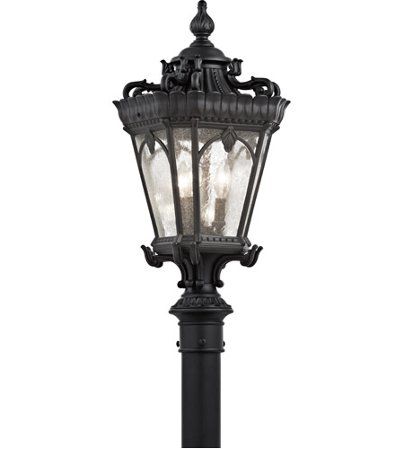 Kichler Lighting Tournai 3 Light Post Lantern in Textured Black 9558BKT