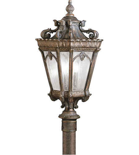 Kichler Lighting Tournai 3 Light Outdoor Post Lantern in Londonderry 9558LD photo