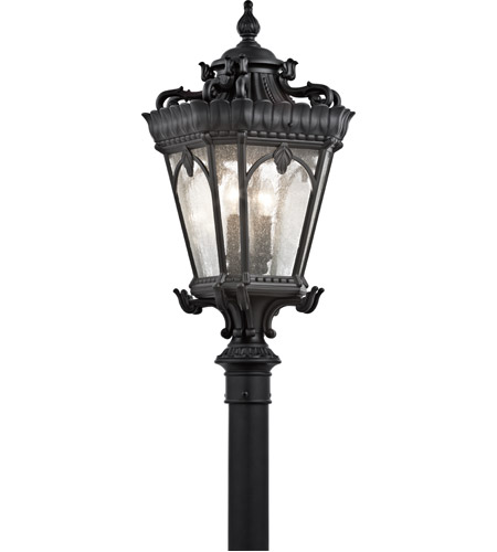 Kichler Lighting Tournai 4 Light Post Lantern in Textured Black 9559BKT