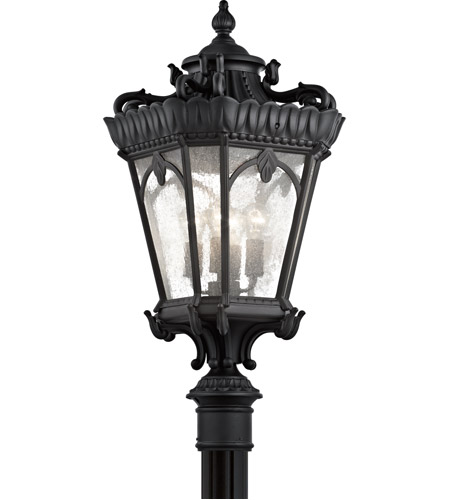 Kichler 9565BKT Tournai 4 Light 38 inch Textured Black Post Lantern photo