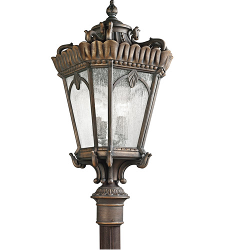 Kichler 9565LD Tournai 4 Light 38 inch Londonderry Outdoor Post Lantern photo