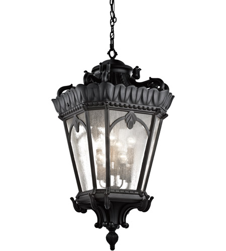 Kichler Lighting Tournai 8 Light Outdoor Hanging Pendant in Textured Black 9568BKT photo