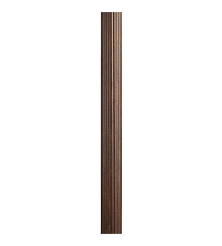 Kichler Lighting Outdoor Fluted Post in Brown Stone 9595BST