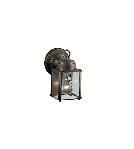 Kichler 9611OZ Signature 1 Light 8 inch Olde Bronze Outdoor Wall Lantern in Clear Glass photo