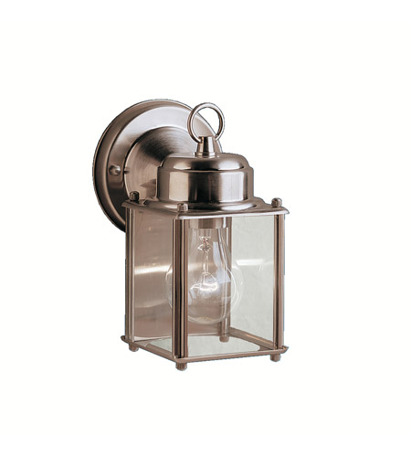 Kichler 9611SS Signature 1 Light 8 inch Stainless Steel Outdoor Wall Lantern in Clear Glass photo