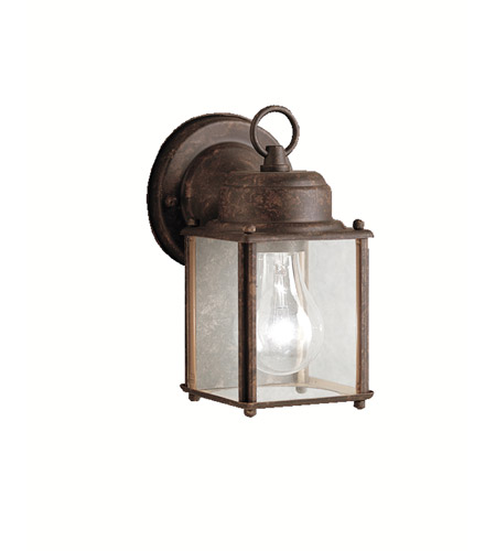 Kichler 9611TZ Signature 1 Light 8 inch Tannery Bronze Outdoor Wall Lantern in Clear Glass photo