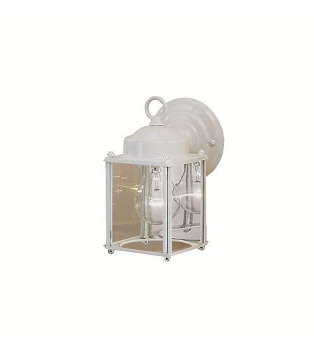 Kichler 9611WH Signature 1 Light 8 inch White Outdoor Wall Lantern in Clear Glass photo