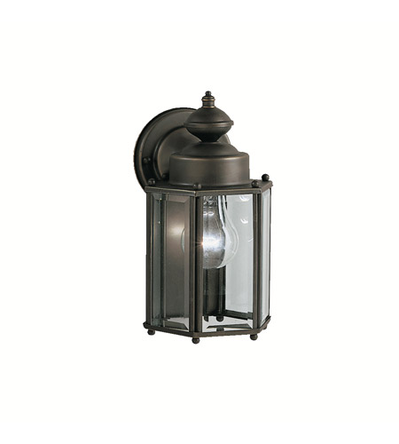 Kichler Lighting Signature 1 Light Outdoor Wall Lantern in Olde Bronze 9618OZ photo