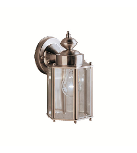 Kichler 9618SS Signature 1 Light 10 inch Stainless Steel Outdoor Wall Lantern photo