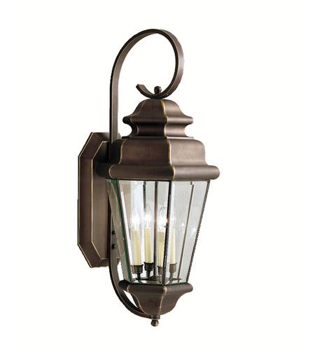 Kichler 9631oz Savannah Estates 4 Light 35 Inch Olde Bronze Outdoor Wall Lantern
