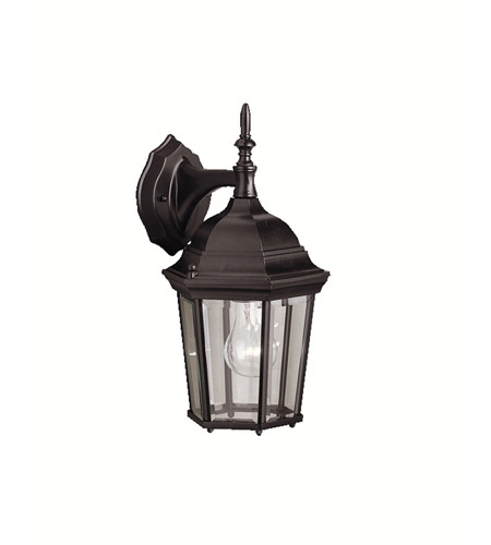 Kichler Lighting Madison 1 Light Outdoor Wall Lantern in Black (Painted) 9650BK