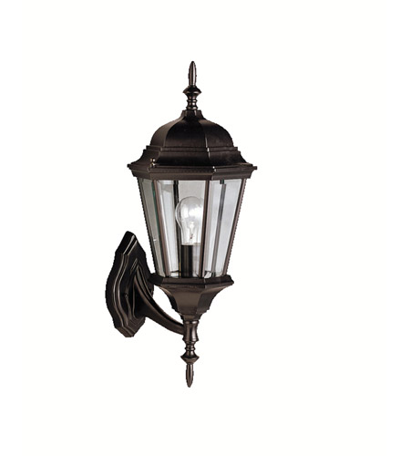 Kichler Lighting Madison 1 Light Outdoor Wall Lantern in Black 9653BK