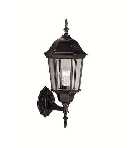 Kichler Lighting Madison 1 Light Outdoor Wall Lantern in Black 9654BK