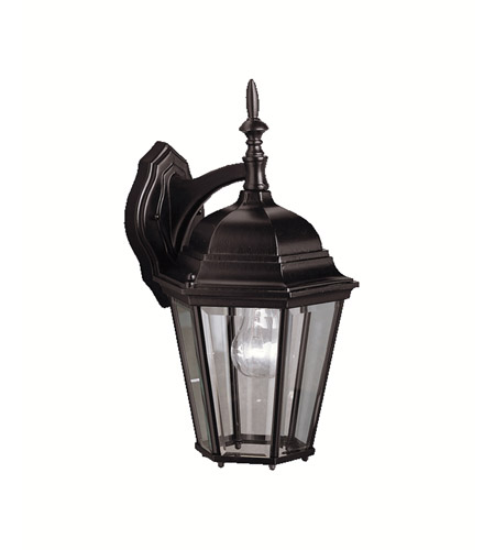 Kichler Lighting Madison 1 Light Outdoor Wall Lantern in Black 9655BK photo