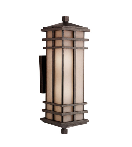 Kichler Lighting Cross Creek 2 Light Outdoor Wall Lantern in Aged Bronze 9656AGZ photo