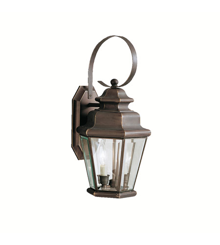 Kichler Lighting Savannah Estates 2 Light Outdoor Wall Lantern in Olde Bronze 9676OZ