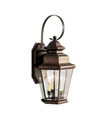 Kichler Lighting Savannah Estates 3 Light Outdoor Wall Lantern in Olde Bronze 9677OZ photo