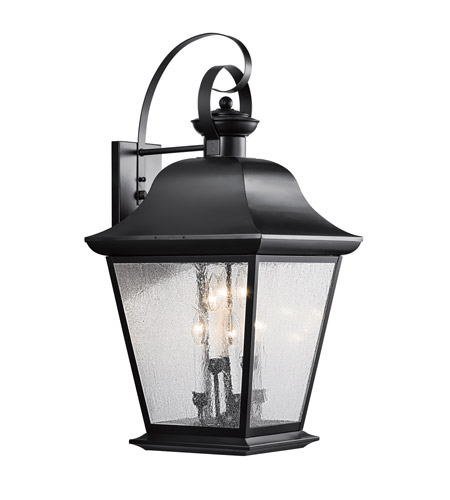 Kichler Lighting Mount Vernon 6 Light XLarge Outdoor Wall Lantern in Black 9703BK photo