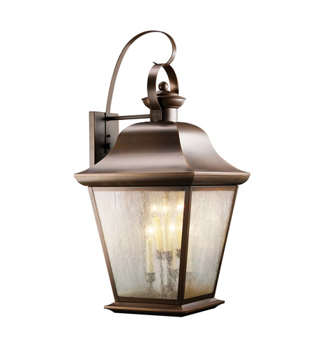 Kichler Lighting Mount Vernon 6 Light Outdoor Wall Lantern in Olde Bronze 9703OZ photo
