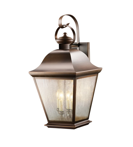 Kichler Lighting Mount Vernon 4 Light Outdoor Wall Lantern in Olde Bronze 9704OZ photo