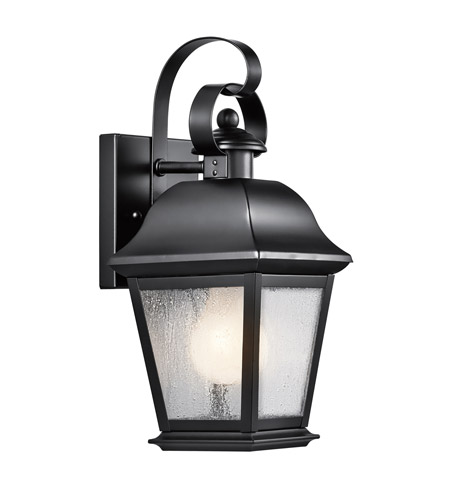 Kichler Lighting Mount Vernon 1 Light Small Outdoor Wall Lantern in Painted Black 9707BK
