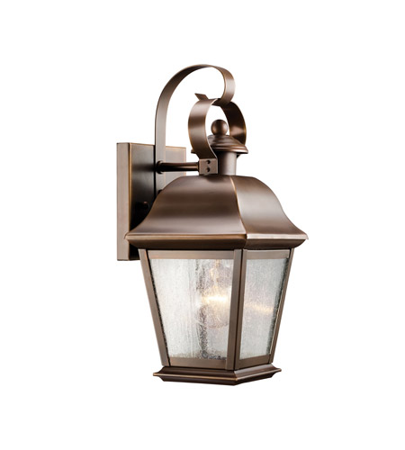Kichler 9707OZ Mount Vernon 1 Light 13 inch Olde Bronze Outdoor Wall Lantern in Standard photo