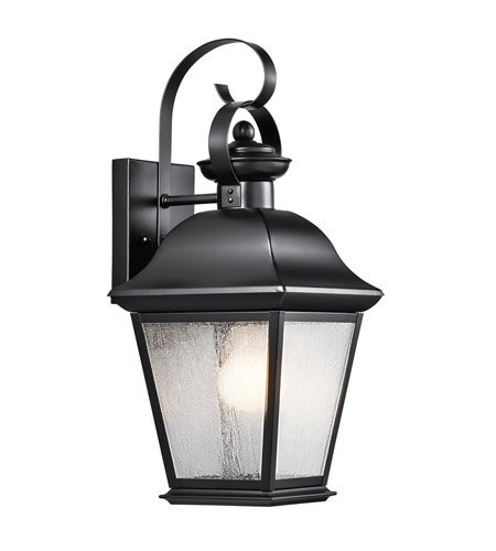 Kichler Lighting Mount Vernon 1 Light Medium Outdoor Wall Lantern in Painted Black 9708BK