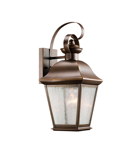 Kichler 9708OZ Mount Vernon 1 Light 17 inch Olde Bronze Outdoor Wall Lantern in Standard photo