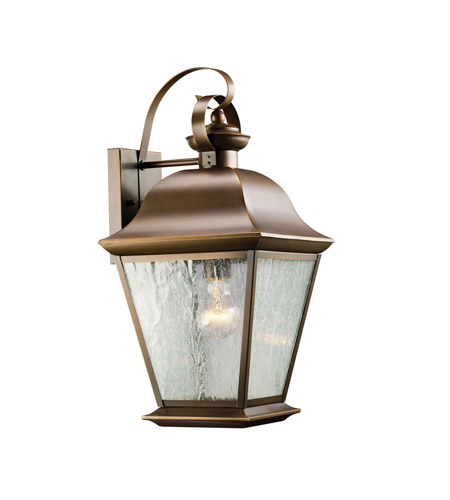 Kichler 9709OZ Mount Vernon 1 Light 20 inch Olde Bronze Outdoor Wall Lantern in Standard photo