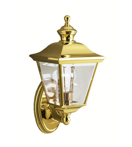 Kichler Lighting Bay Shore 1 Light Outdoor Wall Lantern in Polished Brass 9713PB photo