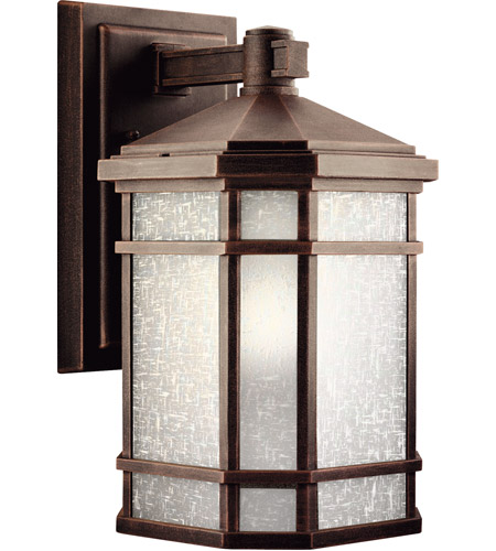 Kichler 9719PR Cameron 1 Light 14 inch Prairie Rock Outdoor Wall Lantern photo