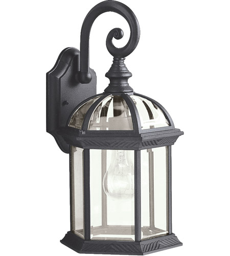 Kichler 9735BK Barrie 1 Light 16 inch Black Outdoor Wall Lantern photo