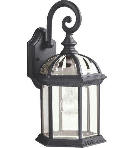Kichler 9735bk Barrie 1 Light 16 Inch Black Outdoor Wall Lantern