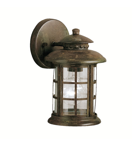 Kichler 9759rst rustic 1 light 10 inch rustic outdoor wall lantern photo