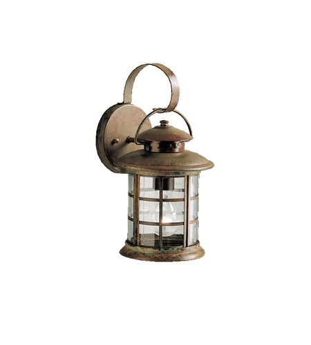 Kichler 9760rst Rustic 1 Light 14 Inch Outdoor Wall Lantern