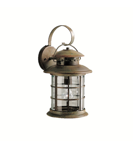 Kichler 9761RST Rustic 1 Light 18 inch Rustic Outdoor Wall Lantern photo