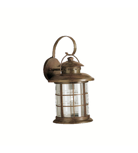 Kichler 9762RST Rustic 1 Light 20 inch Rustic Outdoor Wall Lantern photo