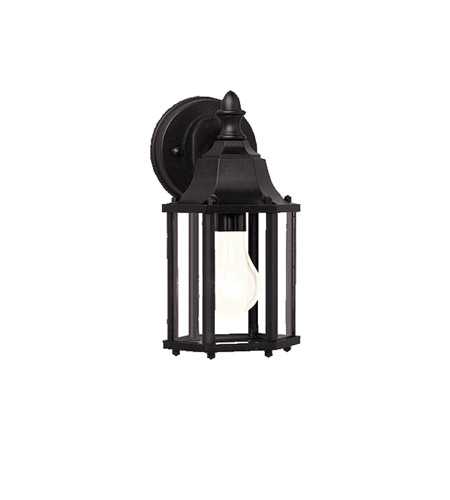 Kichler 9774BK Chesapeake 1 Light 11 inch Black Outdoor Wall Lantern in Satin Etched Glass photo