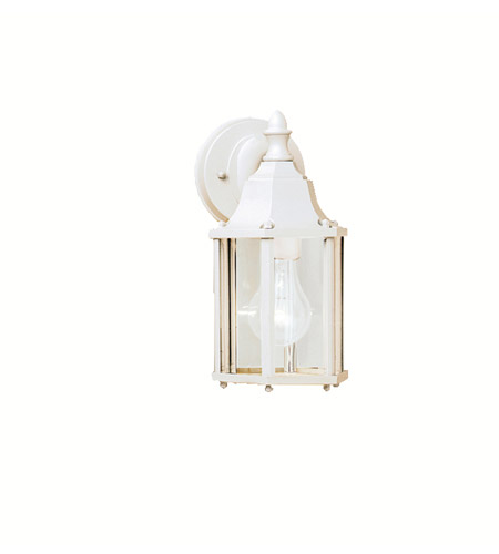 Kichler 9774WH Chesapeake 1 Light 11 inch White Outdoor Wall Lantern in Clear Glass photo