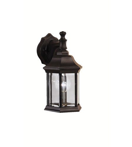 Kichler 9776BK Chesapeake 1 Light 12 inch Black Outdoor Wall Lantern in Clear Glass photo