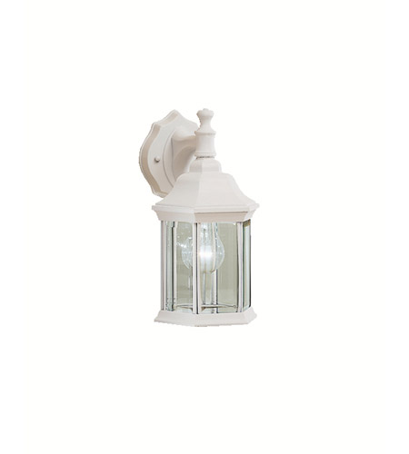 Kichler 9776WH Chesapeake 1 Light 12 inch White Outdoor Wall Lantern in Clear Glass photo