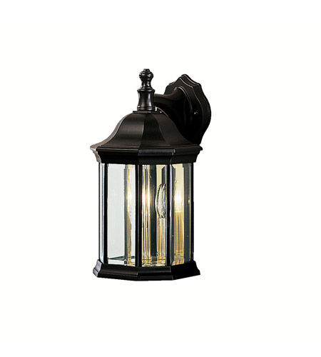 Kichler 9777BK Chesapeake 3 Light 15 inch Black Outdoor Wall Lantern photo