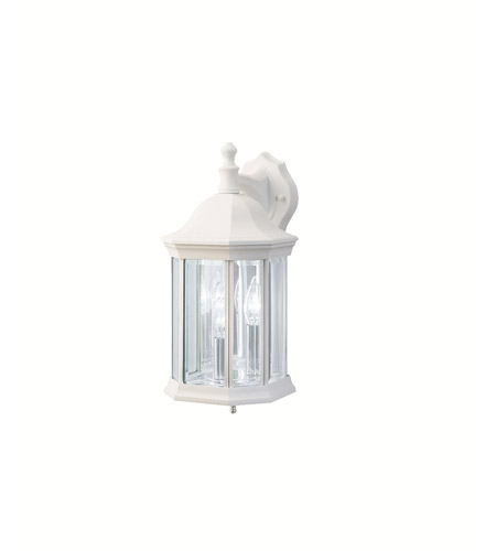 Kichler 9777WH Chesapeake 3 Light 15 inch White Outdoor Wall Lantern photo