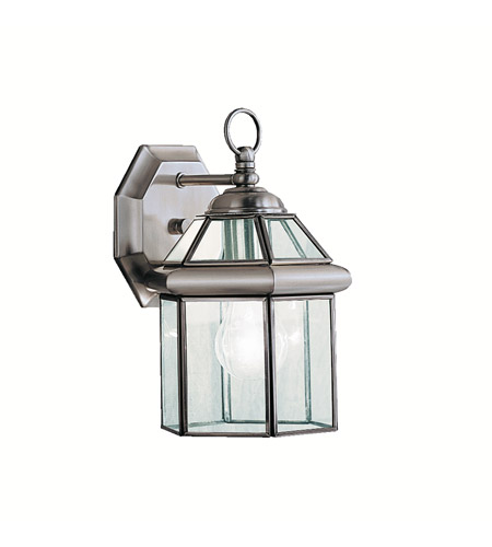 Kichler Lighting Embassy Row 1 Light Outdoor Wall Lantern in Antique Pewter 9783AP