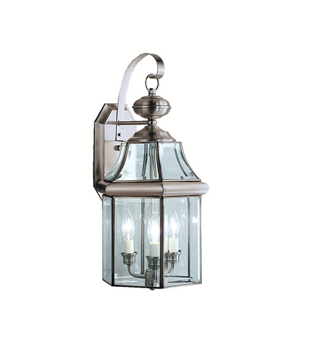 Kichler Lighting Embassy Row 3 Light Outdoor Wall Lantern in Antique Pewter 9785AP