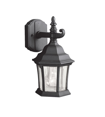 Kichler Lighting Townhouse 1 Light Outdoor Wall Lantern in Black (Painted) 9788BK